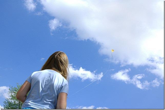 kite in sky by Pete Prodoehl via Flickr