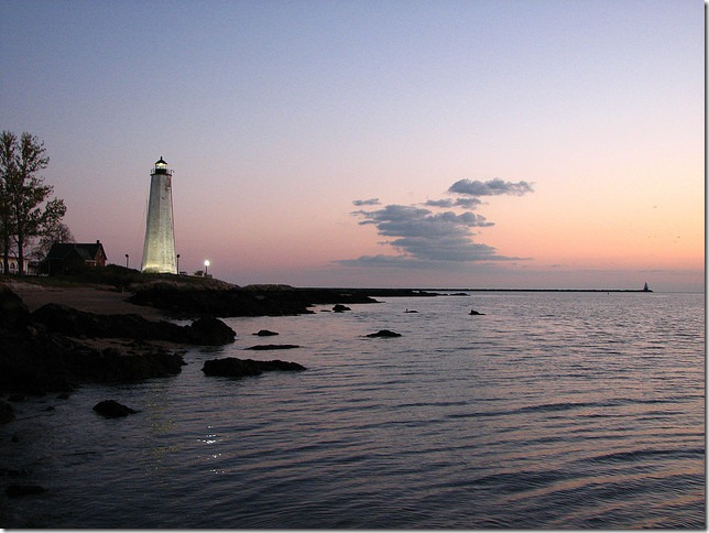 Lighthouse from the Rocks by versageek via Flickr