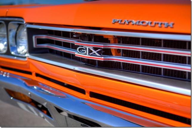 Plymouth GTX painted orange