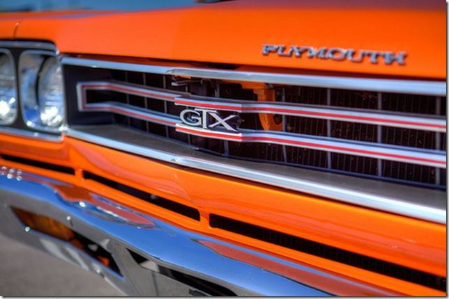 Plymouth GTX painted orange