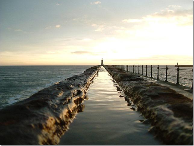 Lighthouse river by biscuitslmp via Flickr